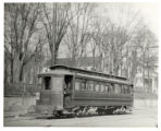 Trolley car, Avenue C and First Street, Bayonne, New Jersey